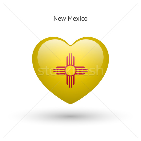 Amour New Mexico symbole coeur pavillon icône Photo stock © tkacchuk