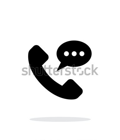 Audio message simple icon on white background. Stock photo © tkacchuk