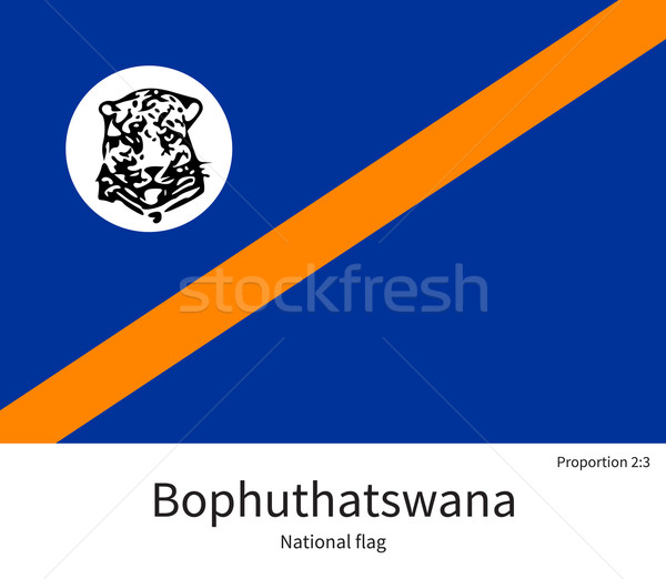 National flag of Bophuthatswana with correct proportions, element, colors Stock photo © tkacchuk