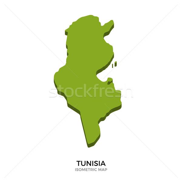 Isometric map of Tunisia detailed vector illustration Stock photo © tkacchuk