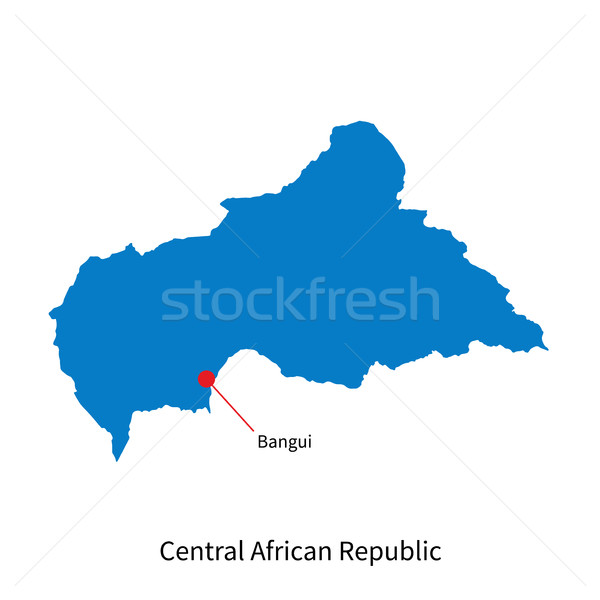 Kaart centraal afrikaanse republiek stad gedetailleerd Stockfoto © tkacchuk