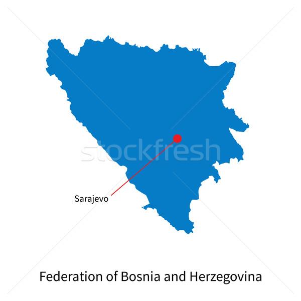 Mapa Bosnia Herzegovina ciudad detallado vector educación Foto stock © tkacchuk