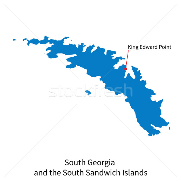 Map of South Georgia and Sandwich Islands with capital city Stock photo © tkacchuk