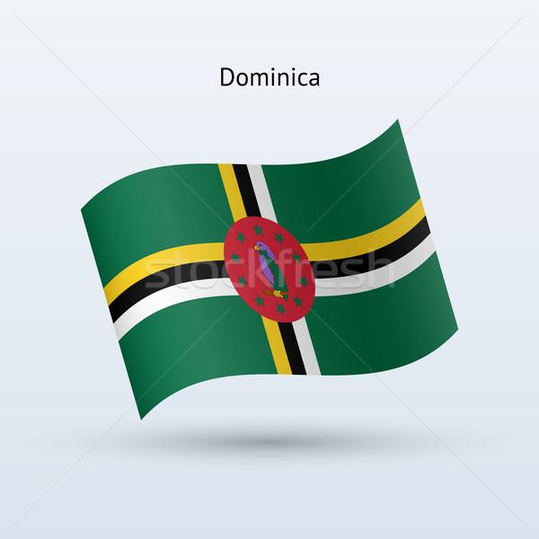 Dominica bandeira forma cinza assinar Foto stock © tkacchuk