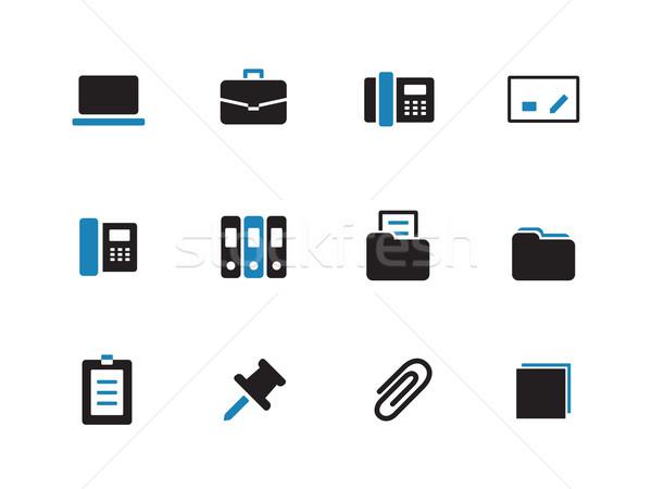 Office duotone icons on white background. Stock photo © tkacchuk