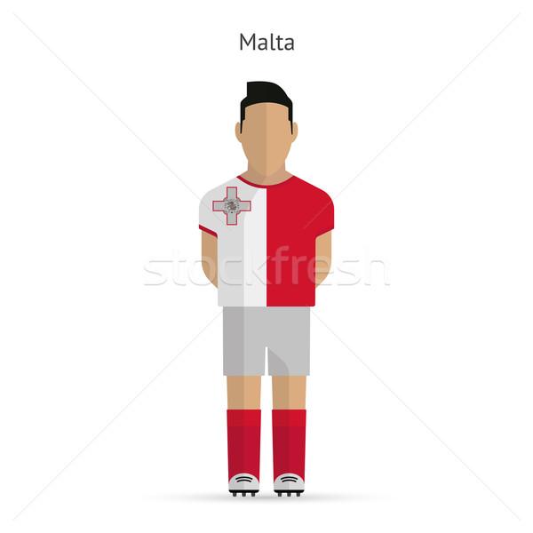 Malta voetballer voetbal uniform abstract fitness Stockfoto © tkacchuk