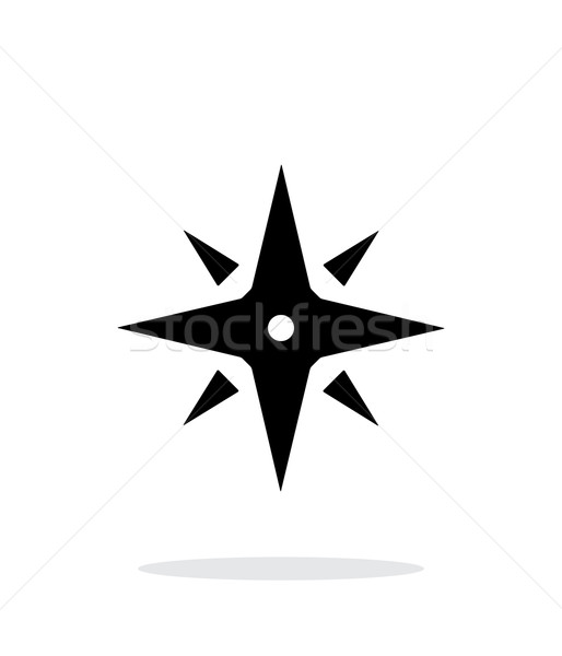 Wind rose icon on white background. Navigation sign. Stock photo © tkacchuk