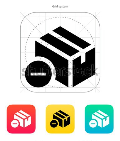 Remove box simple icon on white background. Stock photo © tkacchuk