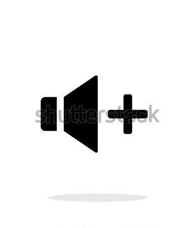 Konuşmacı ikon hacim beyaz müzik Internet Stok fotoğraf © tkacchuk