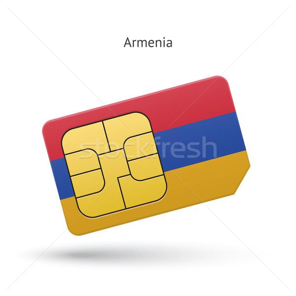 Армения мобильного телефона карт флаг бизнеса дизайна Сток-фото © tkacchuk