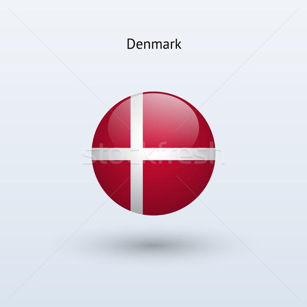 Dánia zászló szürke felirat háló utazás Stock fotó © tkacchuk