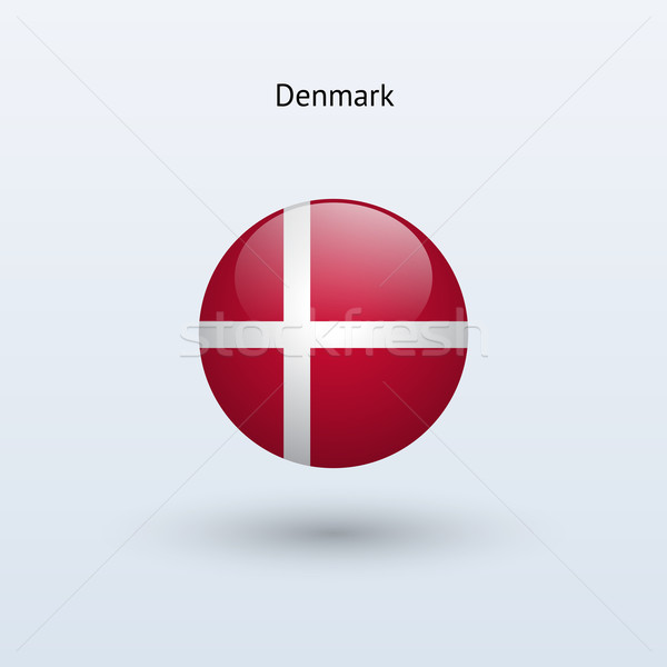 Дания флаг серый знак веб путешествия Сток-фото © tkacchuk