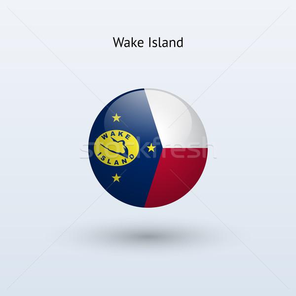 Wake Island round flag. Vector illustration. Stock photo © tkacchuk