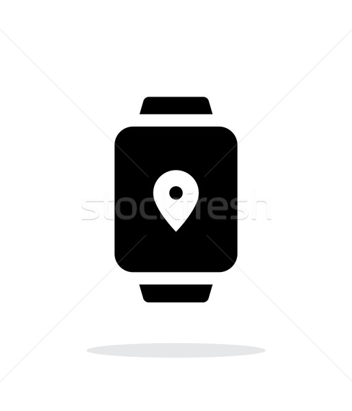 Navigation point on smart watch simple icon on white background. Stock photo © tkacchuk