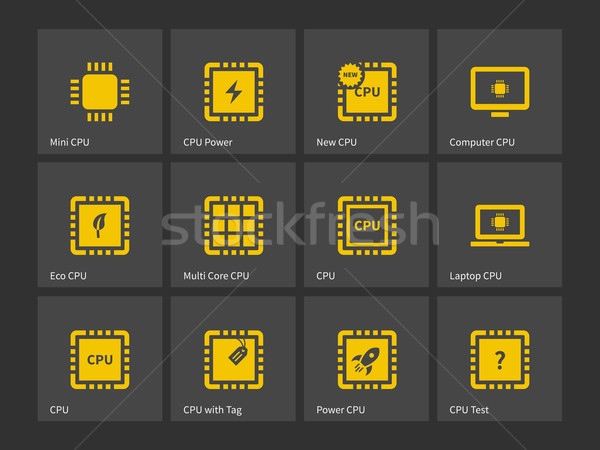 CPU, Central Processing Unit icons. Stock photo © tkacchuk