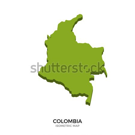 Isometric map of Colombia detailed vector illustration Stock photo © tkacchuk