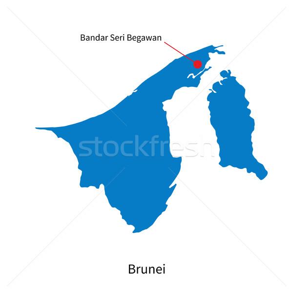 Vector map of Brunei and capital city Bandar Seri Begawan Stock photo © tkacchuk