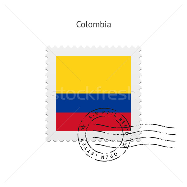 Colombia Flag Postage Stamp. Stock photo © tkacchuk