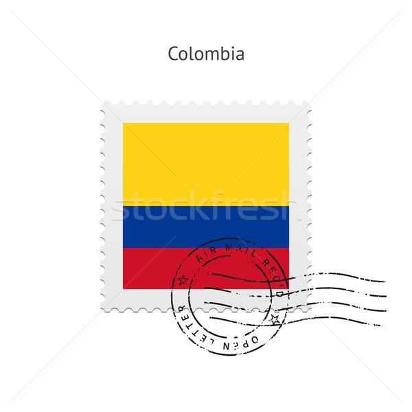 Colômbia bandeira branco papel carta Foto stock © tkacchuk