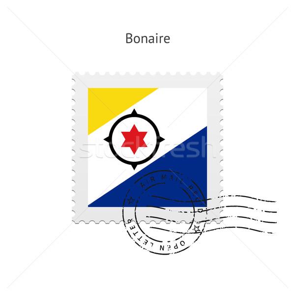 Bonaire Flag Postage Stamp. Stock photo © tkacchuk