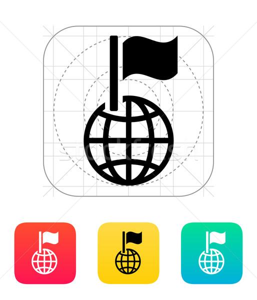 Flag icon. Stock photo © tkacchuk
