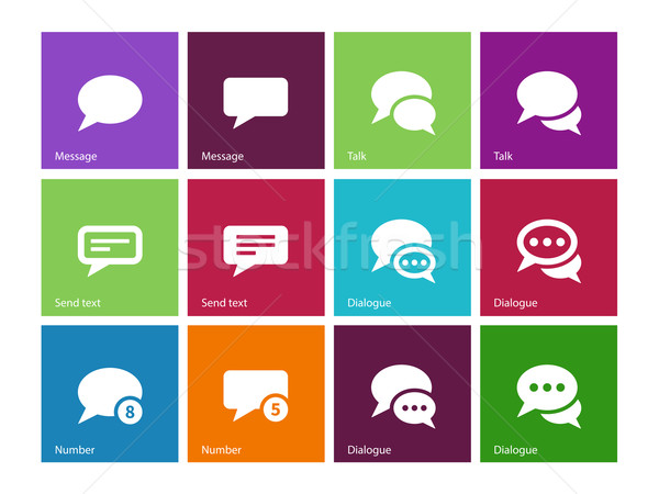 Message bubble icons on color background. Stock photo © tkacchuk