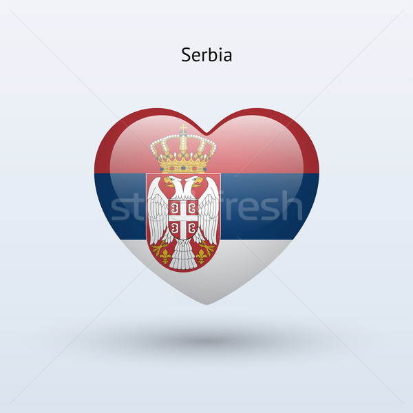 Love Serbia symbol. Heart flag icon. Stock photo © tkacchuk