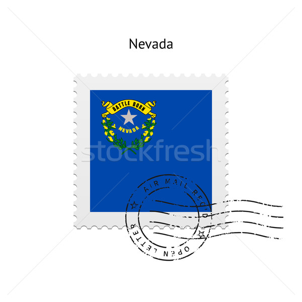 State of Nevada flag postage stamp. Stock photo © tkacchuk