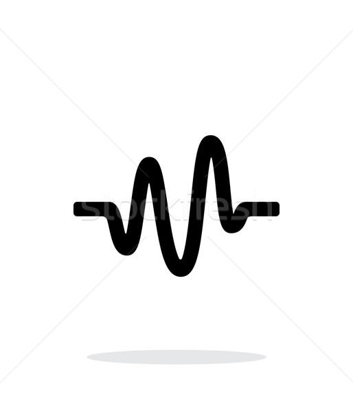 Onda sonora ícone branco música tecnologia telefone Foto stock © tkacchuk