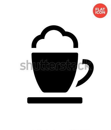 Espresso cup simple icon on white background. Stock photo © tkacchuk