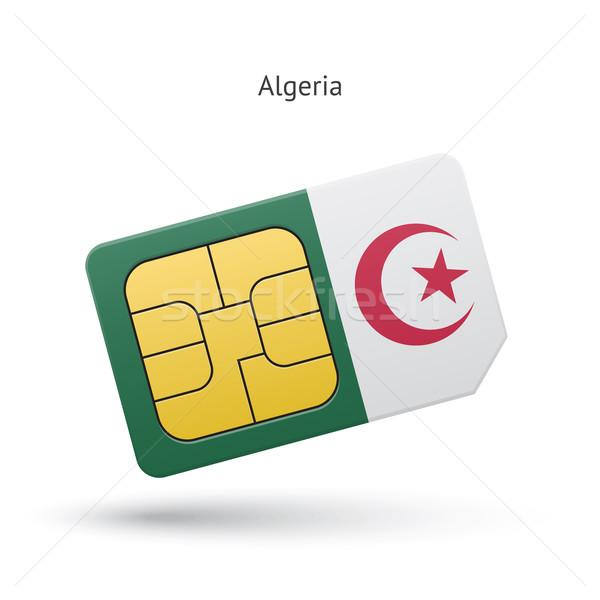 Алжир мобильного телефона карт флаг бизнеса дизайна Сток-фото © tkacchuk