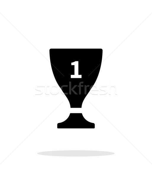 Trophy cup flat vector icon on white background. Stock photo © tkacchuk