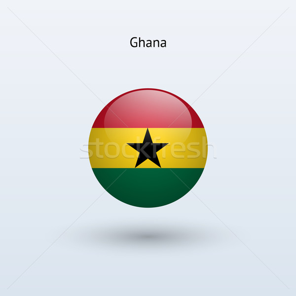 Ghana round flag. Vector illustration. Stock photo © tkacchuk