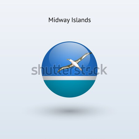 Midway Islands round flag. Vector illustration. Stock photo © tkacchuk