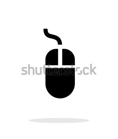 Wired mouse icon on white background. Stock photo © tkacchuk