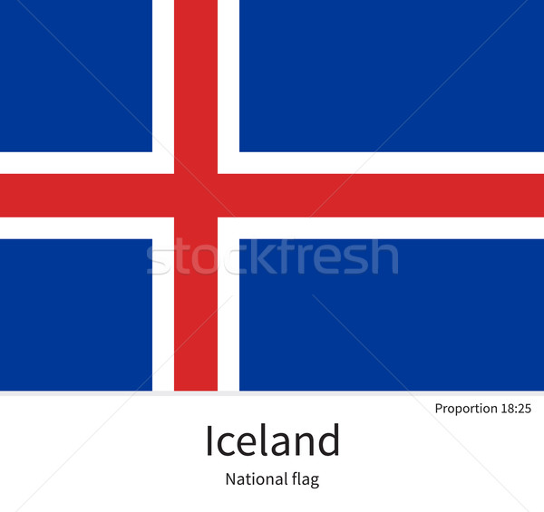 National flag of Iceland with correct proportions, element, colors Stock photo © tkacchuk