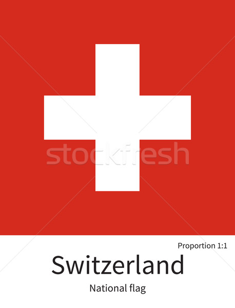 National flag of Switzerland with correct proportions, element, colors Stock photo © tkacchuk