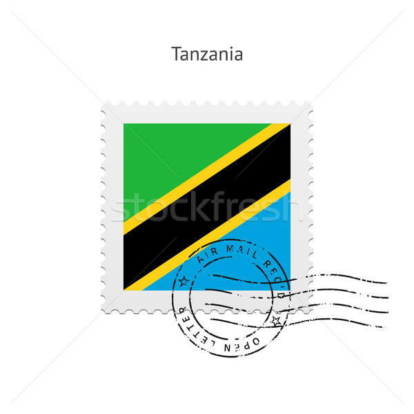 Танзания флаг почтовая марка белый знак письме Сток-фото © tkacchuk