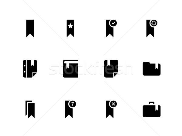 Bookmark, tag, favorite icons on white background. Stock photo © tkacchuk