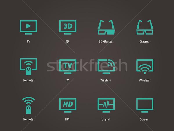 TV icons. Vector illustration. Stock photo © tkacchuk
