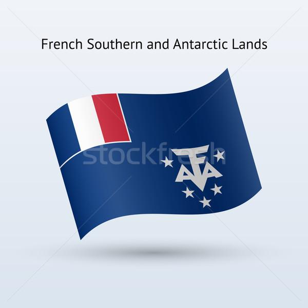 French Southern and Antarctic Lands flag waving. Stock photo © tkacchuk