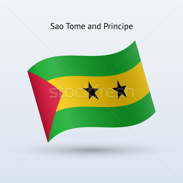 Sao Tome and Principe flag waving form. Stock photo © tkacchuk