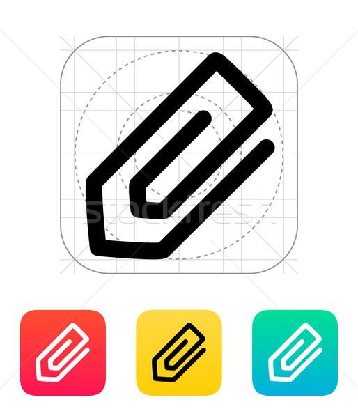 Spinacz ikona papieru Internetu projektu narzędzie Zdjęcia stock © tkacchuk