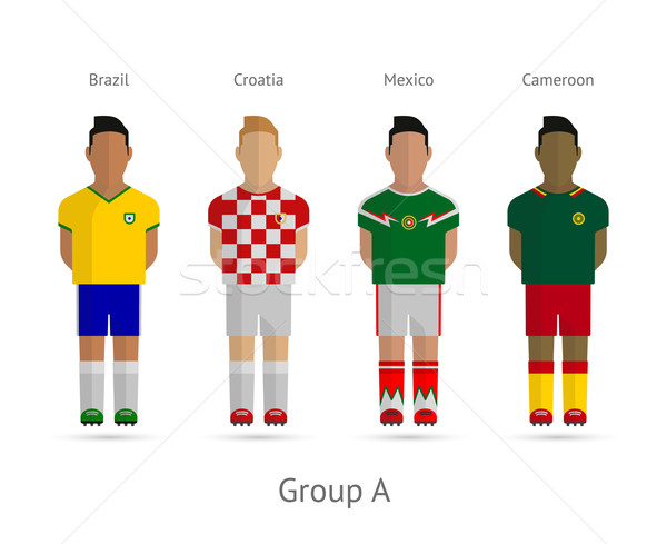 4f9a2e27f5e #4147325 Football teams. Group A - Brazil, Croatia, Mexico, Cameroon by ...