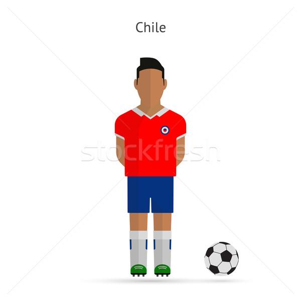 National football player. Chile soccer team uniform. Stock photo © tkacchuk