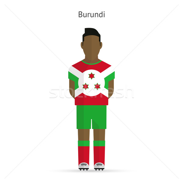 Burundi futebol uniforme abstrato fitness Foto stock © tkacchuk