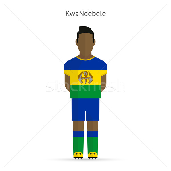 KwaNdebele football player. Soccer uniform. Stock photo © tkacchuk