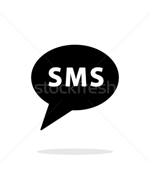 Sms messaggio icona bianco telefono telefono Foto d'archivio © tkacchuk