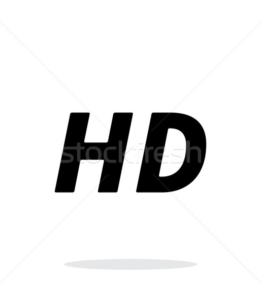 Stock photo: HD quality video icon on white background.