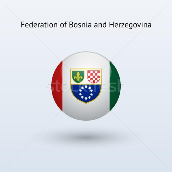 Federation of Bosnia and Herzegovina round flag. Stock photo © tkacchuk